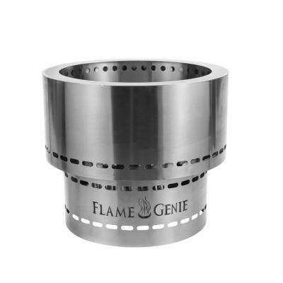 Flame Genie Inferno Pellet 19 in. x 16.5 in. Stainless Steel Wood Burning Fire Pit