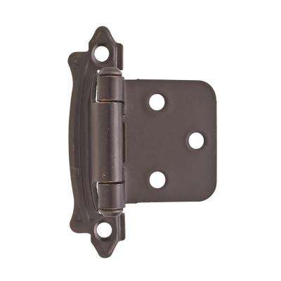 Oil-Rubbed Bronze Variable Overlay Self-Closing, Face Mount Hinge (2-Pack)