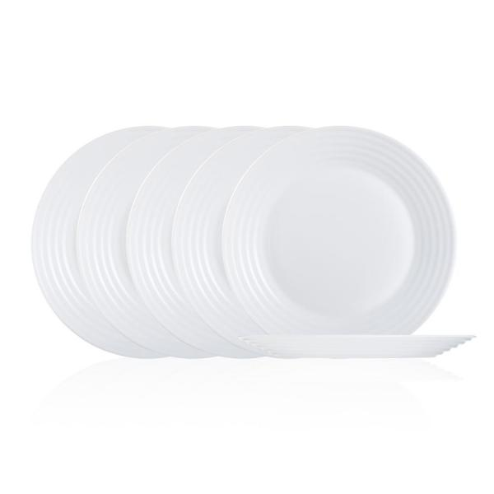 Harena White Dessert Plate Set (6-Piece)