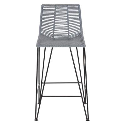 Odetter 36 in. Grey Bar Stool