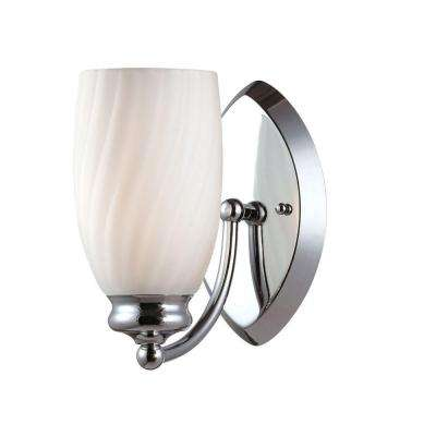 Belize 1-Light Chrome Interior Incandescent Bath Vanity Light