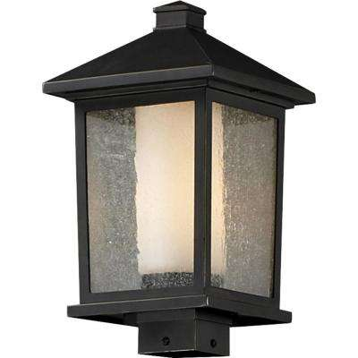 Lawrence 1 Light Outdoor Oil Rubbed Bronze Incandescent Post