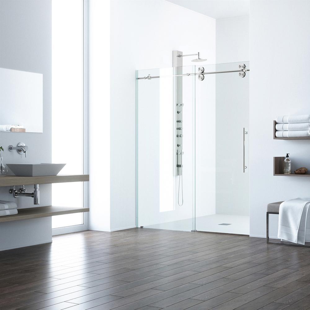 Vigo Elan 56 In X 74 In Frameless Sliding Shower Door