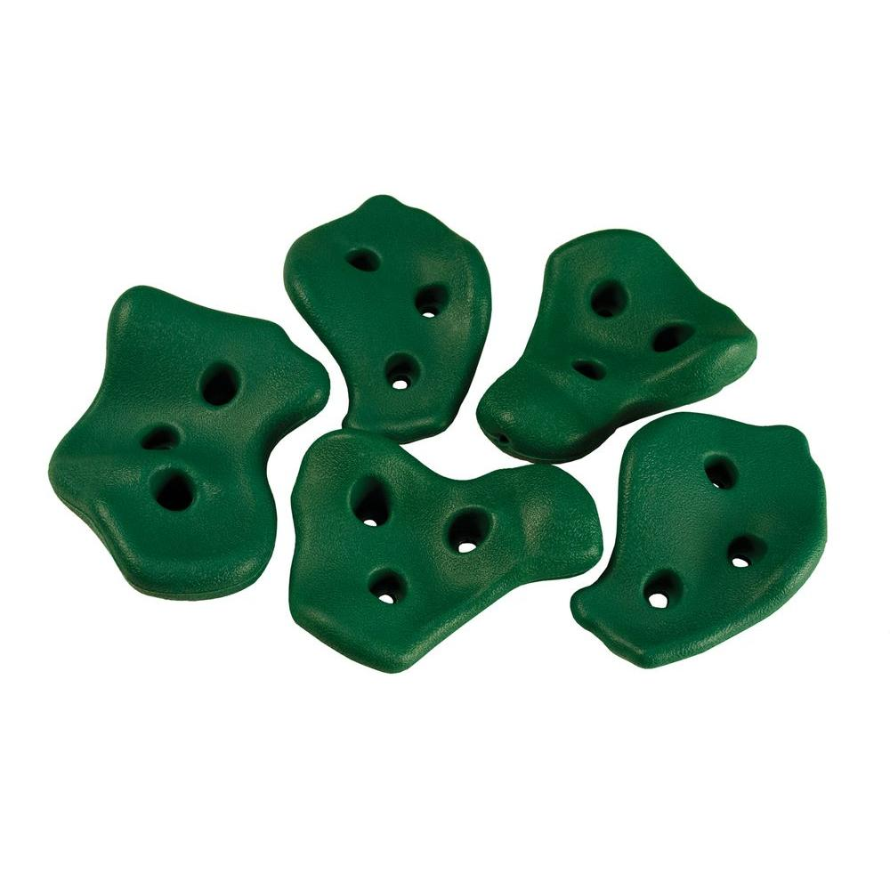 Gorilla Playsets Green Rock Wall Rocks (5-Piece Set)