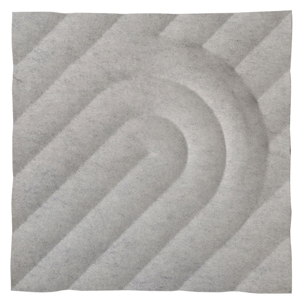 MIO FeltForms 24 in. W x 24 in. L x 2 in. H White Acoustic Insulation Deco Panels (4-Pack)