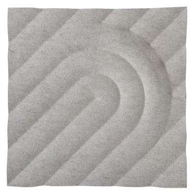 FeltForms 24 in. W x 24 in. L x 2 in. H White Acoustic Insulation Deco Panels (4-Pack)