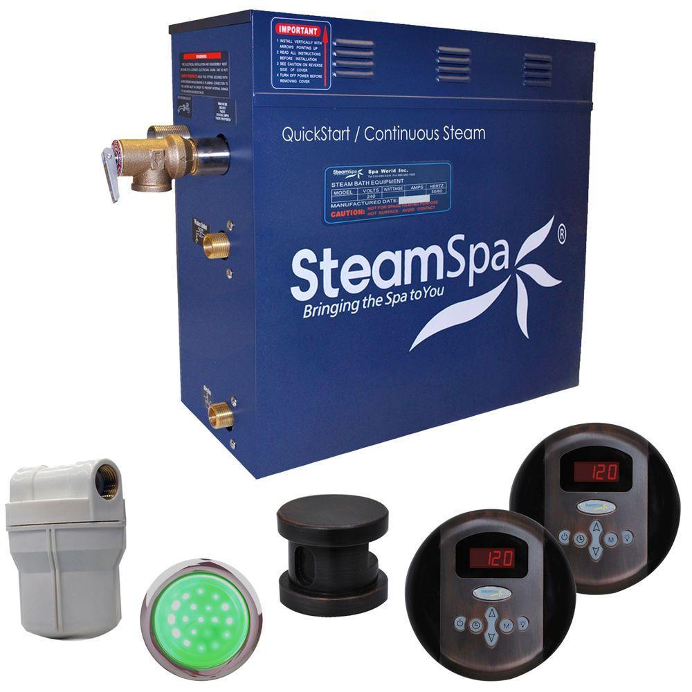 SteamSpa Royal 7.5kW Steam Bath Generator Package in Oil Rubbed Bronze