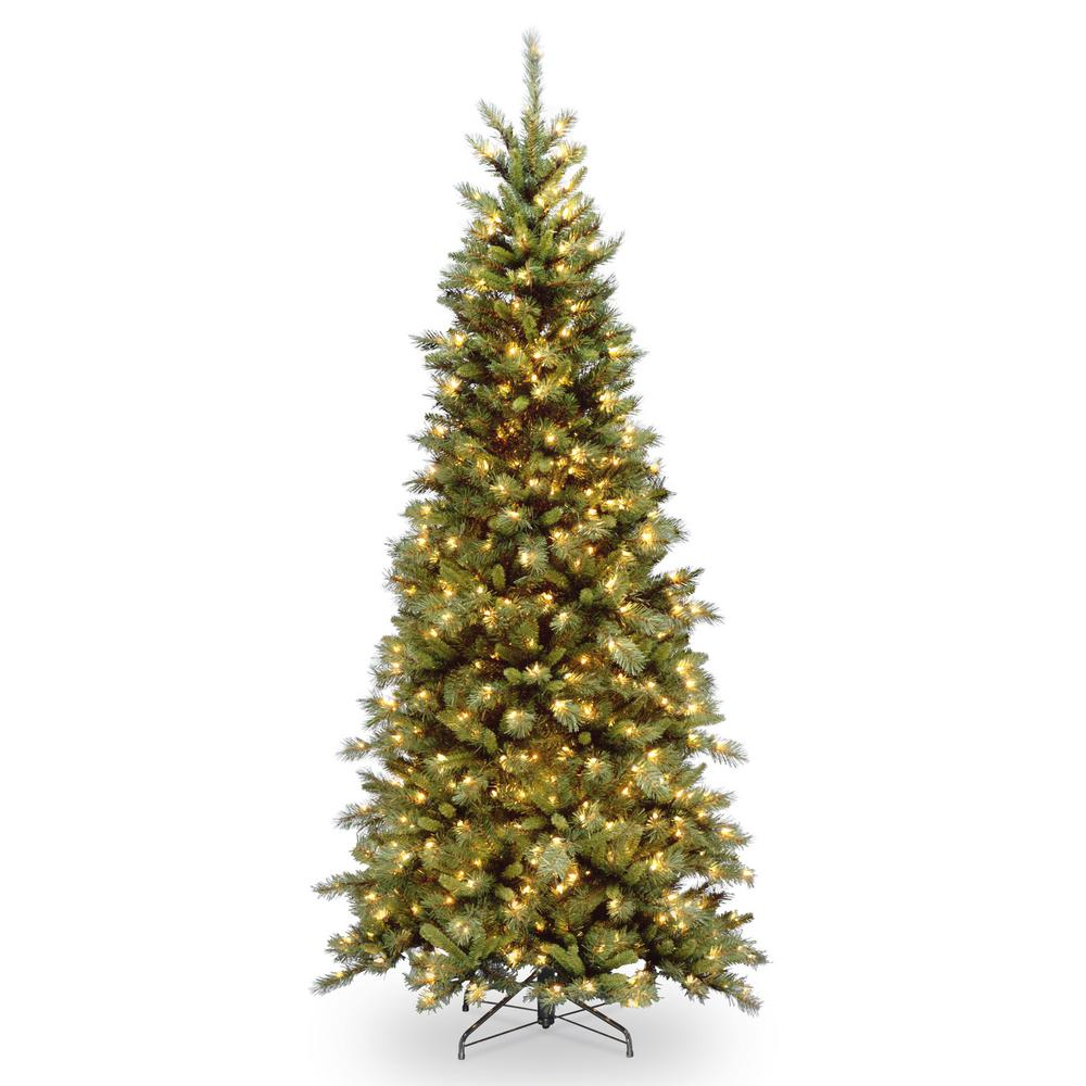 6.5 ft. Tiffany Fir Slim Artificial Christmas Tree with Clear Lights