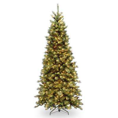 Tiffany Fir Slim Artificial Christmas Tree with Clear Lights - Traditional - 6.5 Ft - Artificial Christmas Trees - Christmas Trees