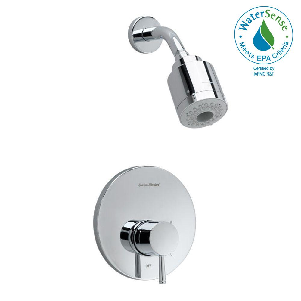 Serin FloWise Pressure Balance 1-Handle Shower Faucet Trim Kit in Polished