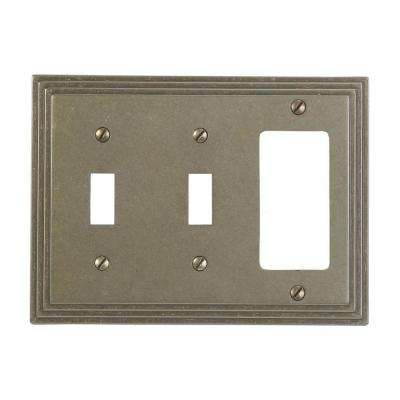 Steps 2 Toggle 1 Decora Wall Plate - Rustic Brass