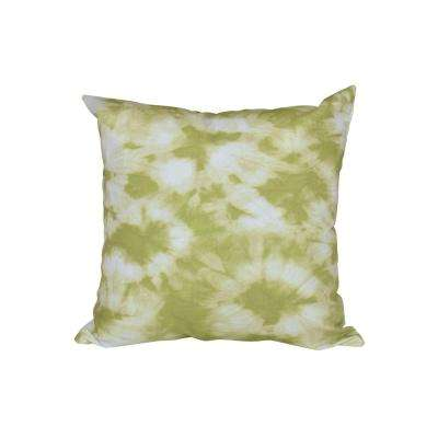 16 in. x 16 in. Light Green Chillax Geometric Print Pillow