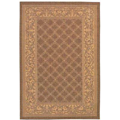 Recife Garden Lattice Cocoa Natural 5 ft. 3 in. x 7 ft. 6 in. Area Rug