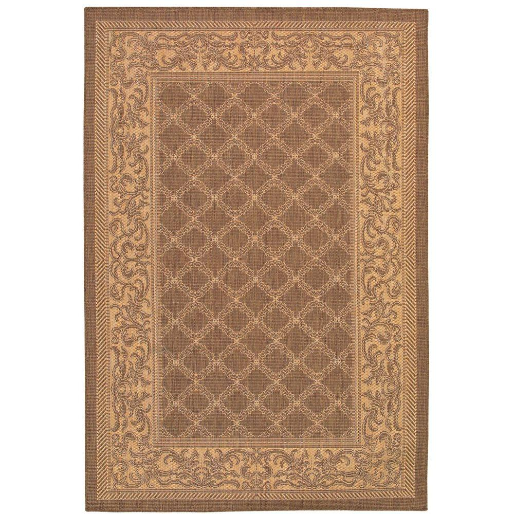 Recife Garden Lattice Cocoa Natural 7 ft. 6 in. x 10