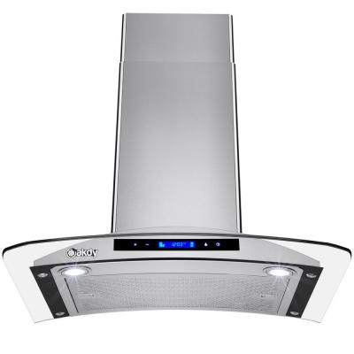 30 in. 343 CFM Convertible Kitchen Wall Mount Range Hood in Stainless Steel with Tempered Glass and Touch Controls