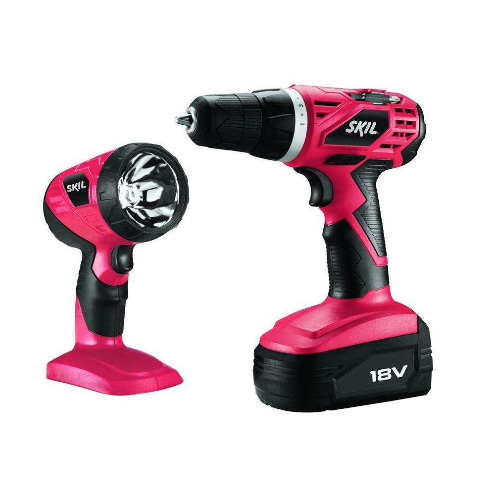 Skil 18-Volt NiCad Cordless 3/8-in Drill Driver and Flashlight Combo Kit