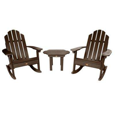 Classic Wesport Weathered Acorn 3-Piece Recycled Plastic Patio Conversation Set