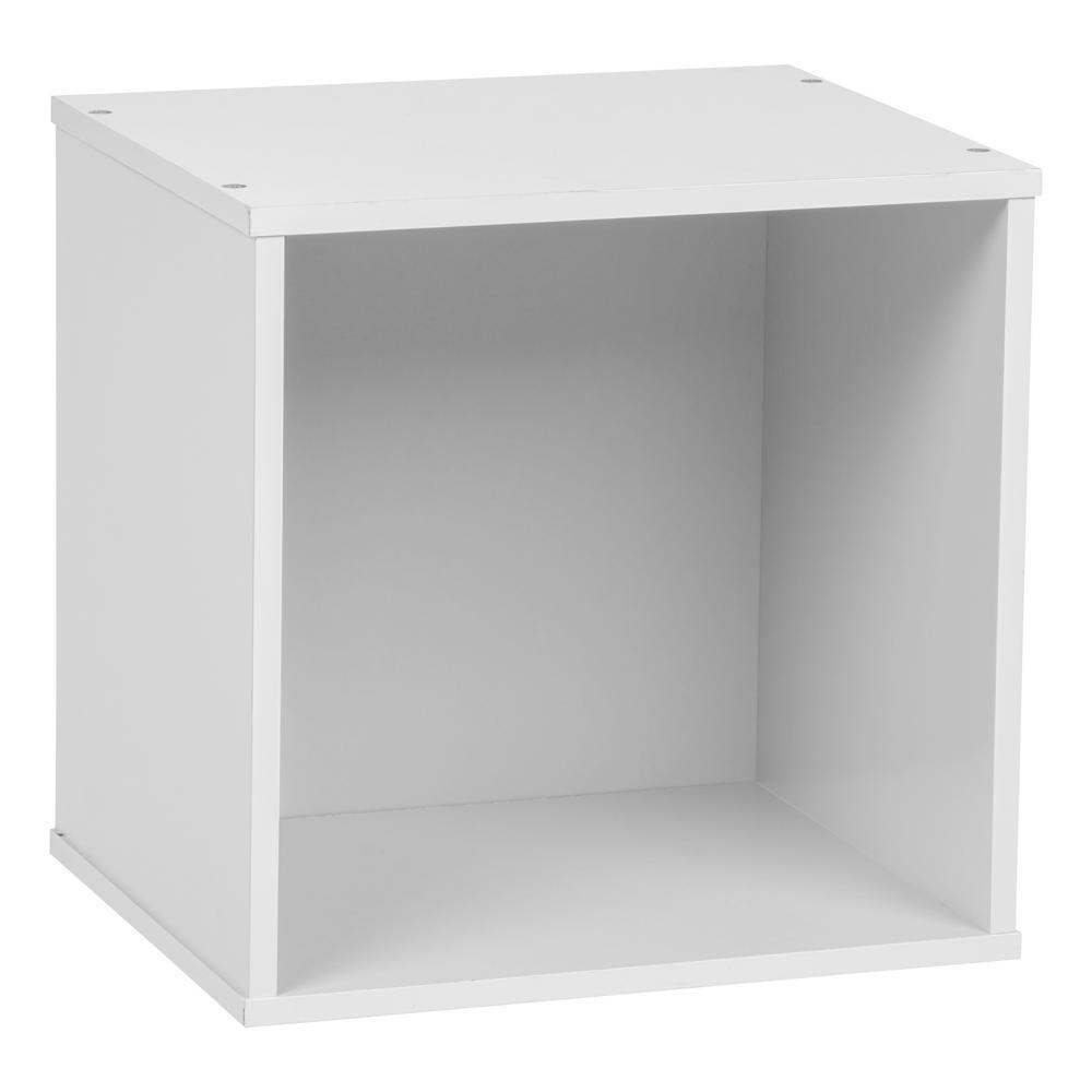 BAKU White Modular Wood Cube Box