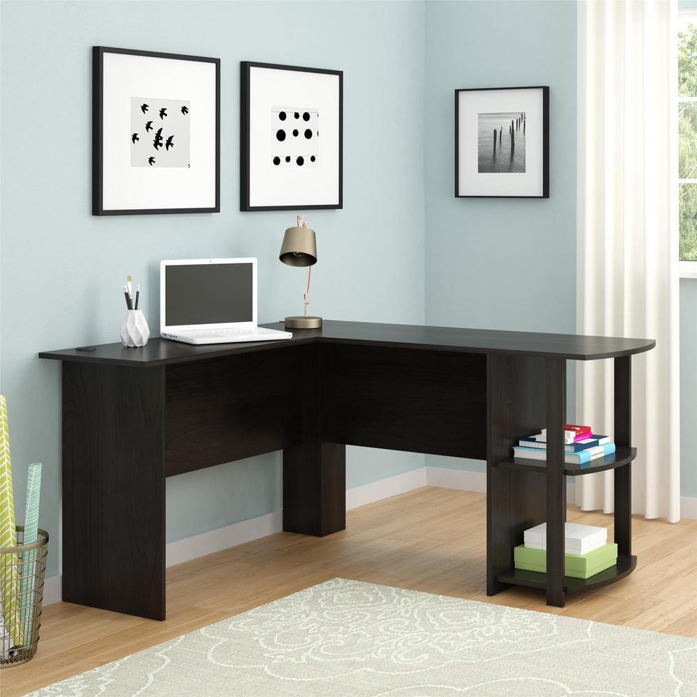 Quincy Espresso L-Shaped Desk