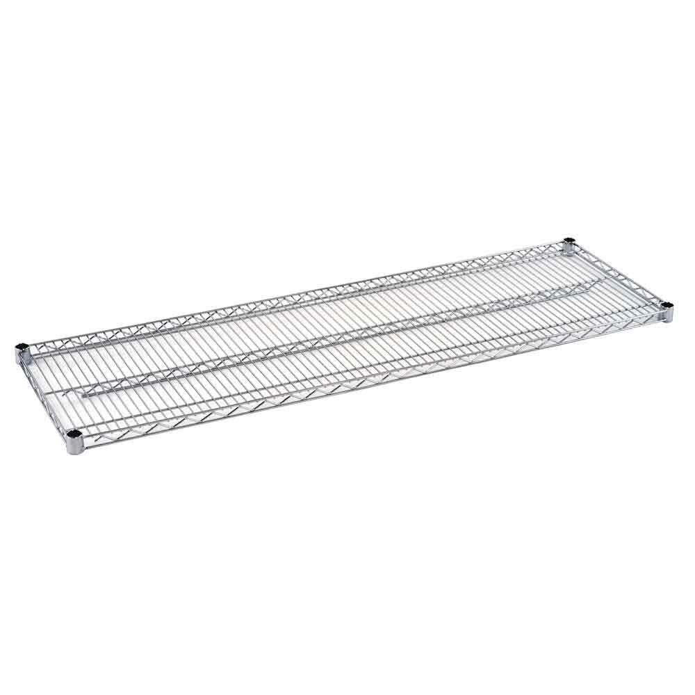 2 in. H x 60 in. W x 18 in. D Steel Wire Shelf in Chrome
