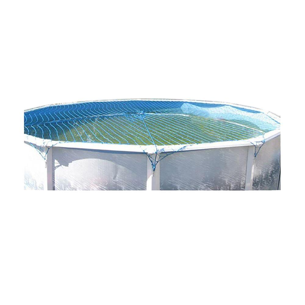 Water Warden Pool Safety Net Cover For Above Ground Pool Up To 15 Ft Round Wwn15 The Home Depot