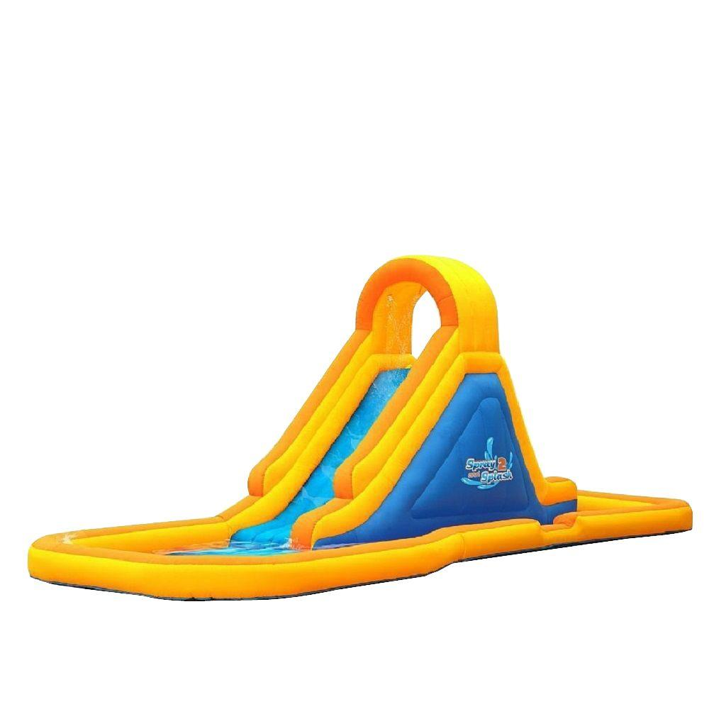 Blast Zone Spray and Splash-2 Bounce House with Waterslid...