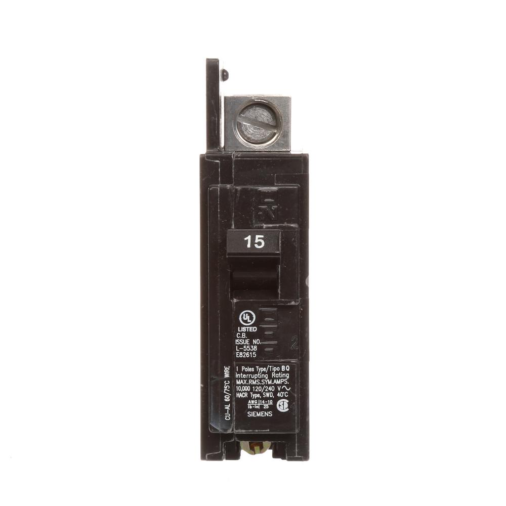 15 Amp 1-Pole BQ 10 kA Lug-In/Lug Out Circuit Breaker with
