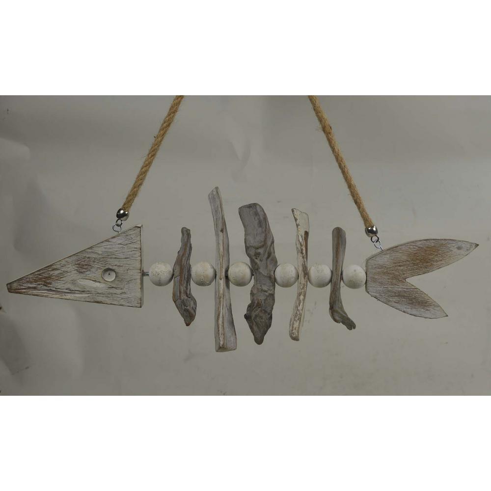 Sculpture Fish Bone Wooden Wall Art