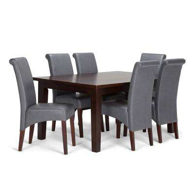 Avalon 7 Piece Stone Grey Dining Set
