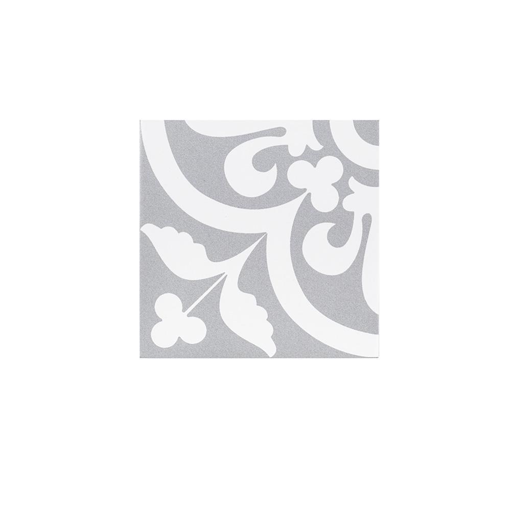 Emblem Gray 7.875 in. x 7.875 in. Matte Porcelain Wall and Floor Tile (10.76 sq. ft./Case)