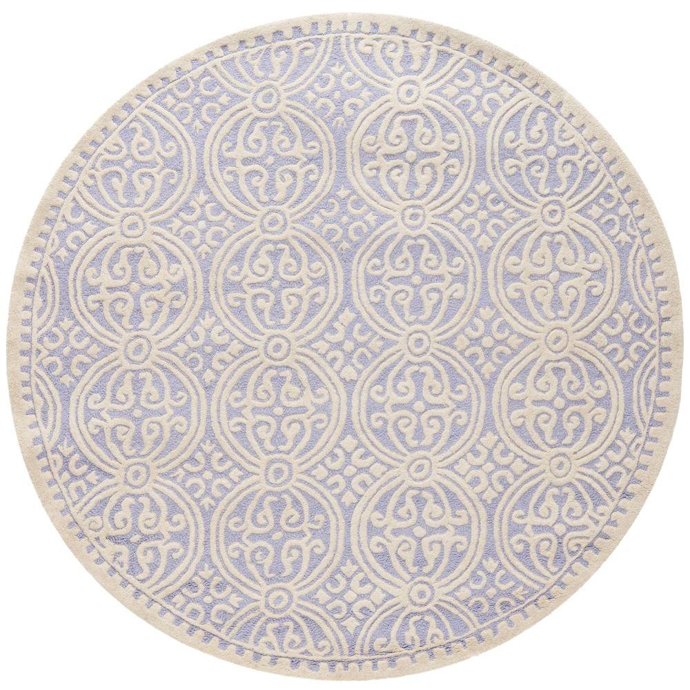 Safavieh Cambridge Lavender/Ivory 4 Ft. X 4 Ft. Round Area Rug
