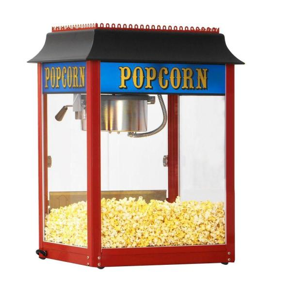 Paragon 1911 Original 8 oz. Red Stainless Steel Countertop Popcorn Machine