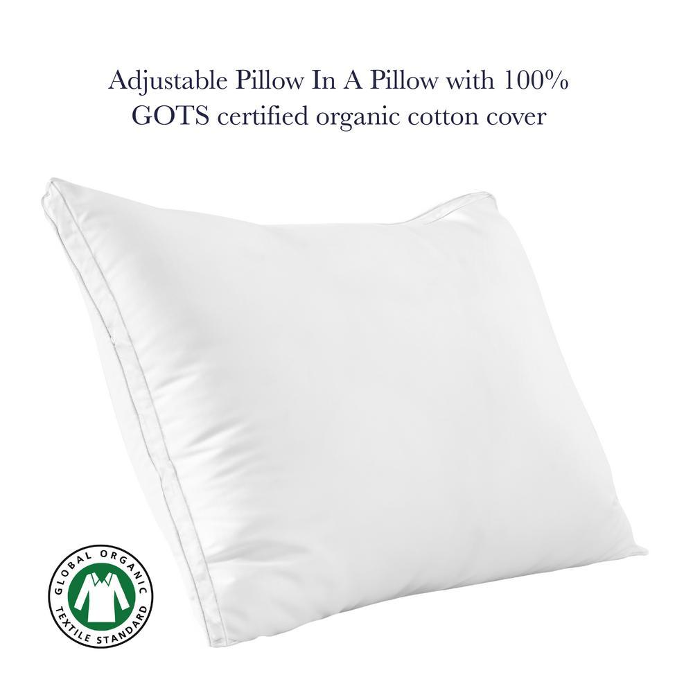 A1HC Down Alternative and Shredded Memory Foam Gusset Pillow