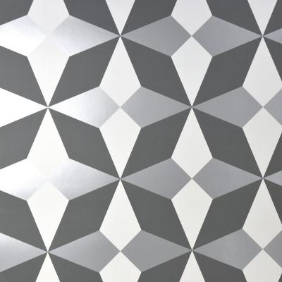 Newby Silver Geometric Wallpaper
