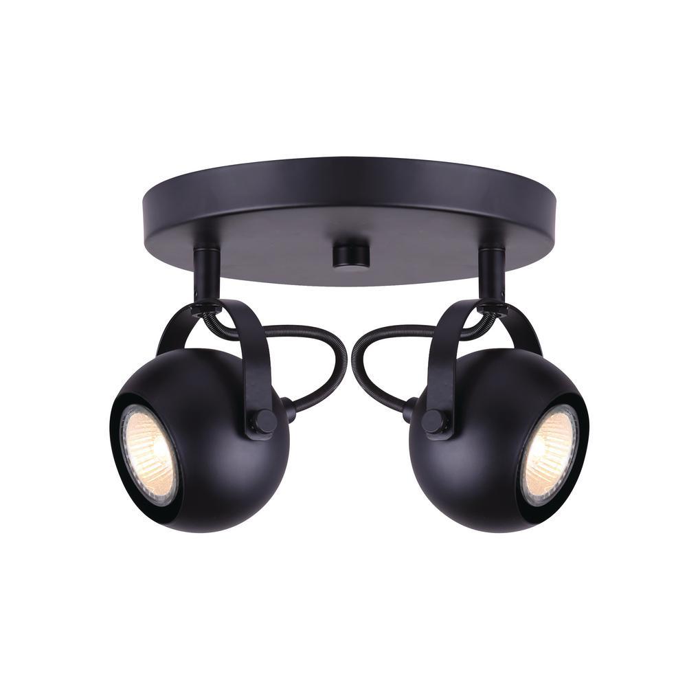 Murphy 0.77 ft. 2-Light Matte Black Halogen or LED Track Lighting Kit