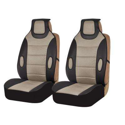 Leatherette 21 in. x 20 in. x 3 in. Front Seat Cushions