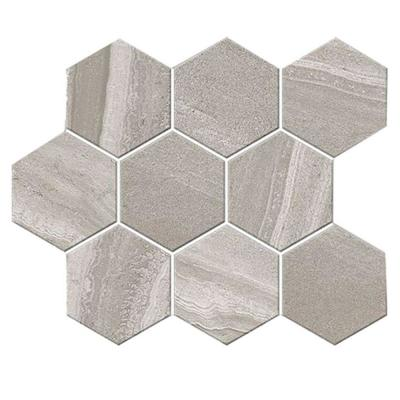 Aspen Granite 4 in. Hex 12 in. x 12 in. x 9mm Porcelain Mosaic Tile (5 sq. ft. / case)