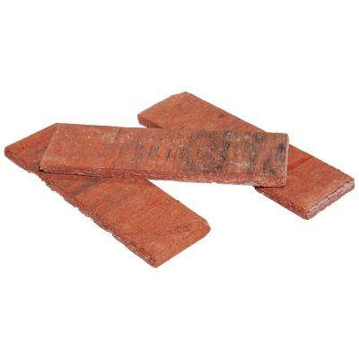 8 in. x 2.25 in. x 0.44 in. Concrete Americana Classic Red Thin Brick Veneer