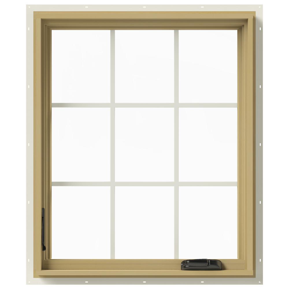30 in. x 36 in. W-2500 Left-Hand Casement Aluminum Clad Wood