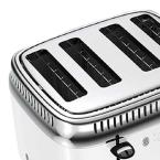 Russell Hobbs Retro Style 4-Slice White Stainless Steel Toaster with Built-In Timer