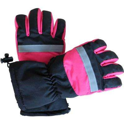 Large Pink and Black Women's Battery Heated Gloves
