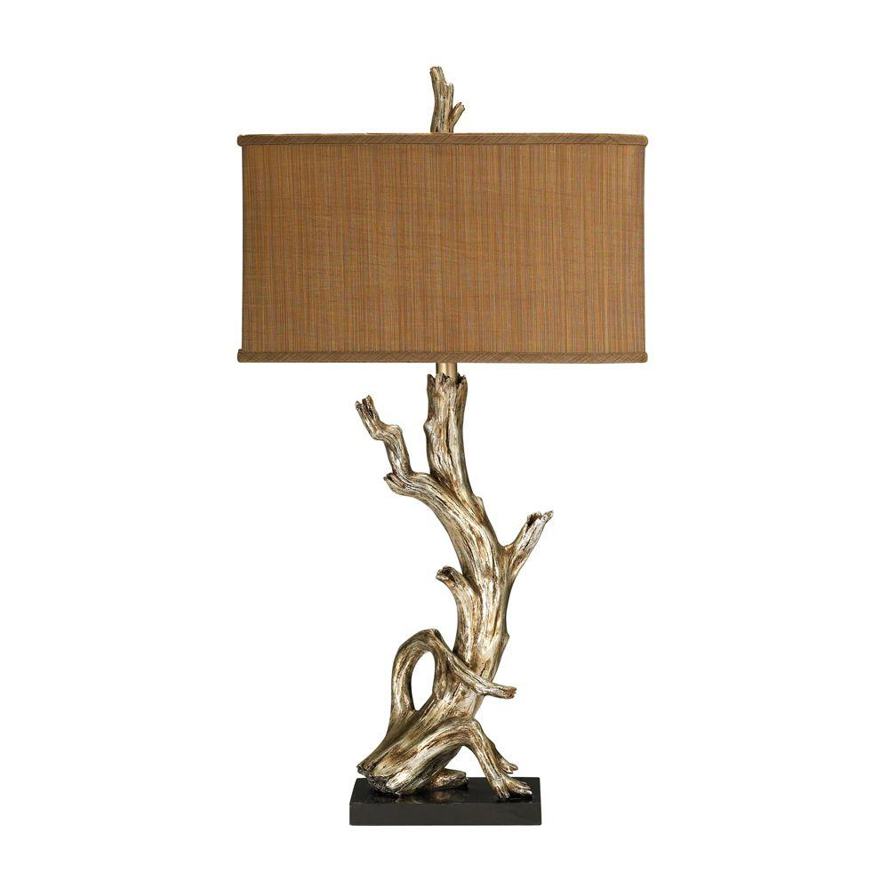 Titan Lighting 35 in. Gold Driftwood Table Lamp