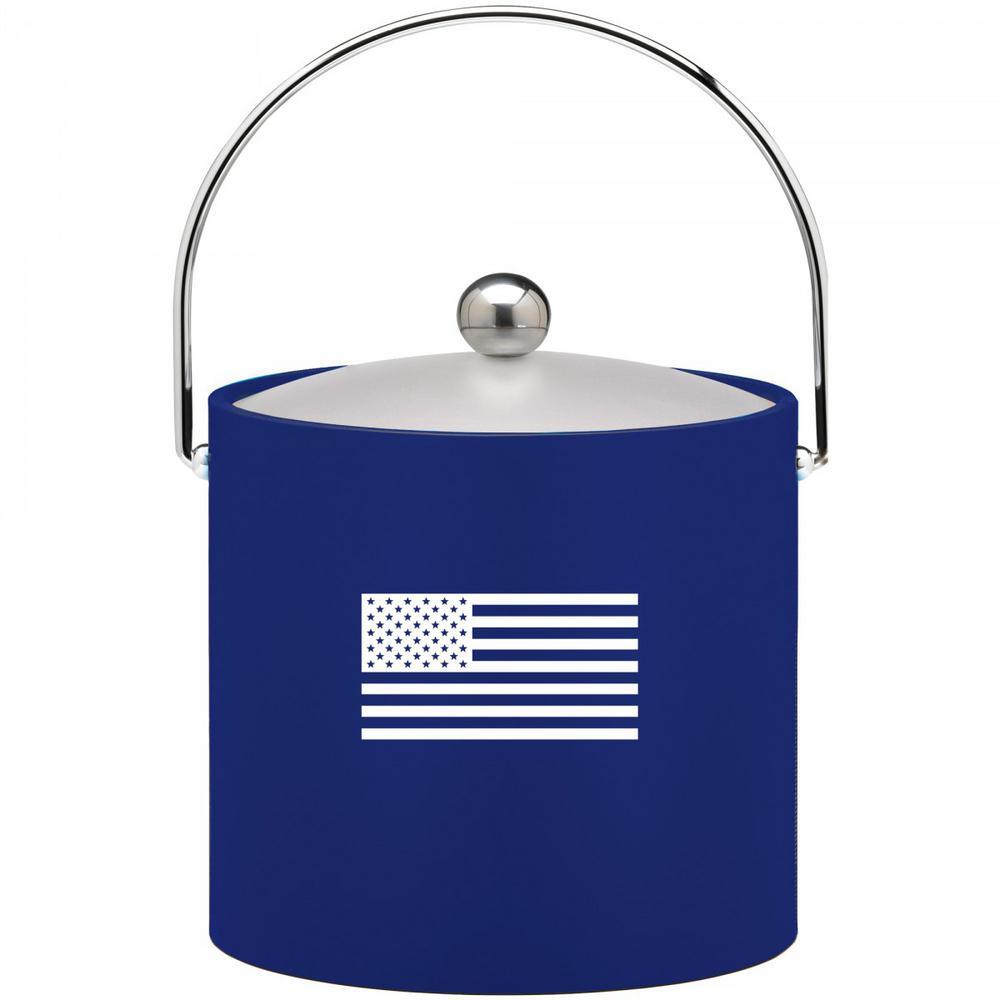 Kasualware U.S.A. 3 Qt. Ice Bucket in Blue