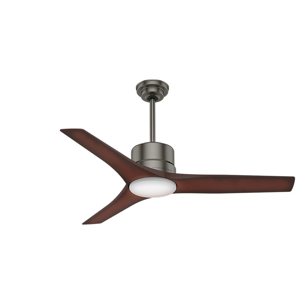Ceiling Fan Direct Drive : Casablanca piston in led indoor outdoor brushed slate