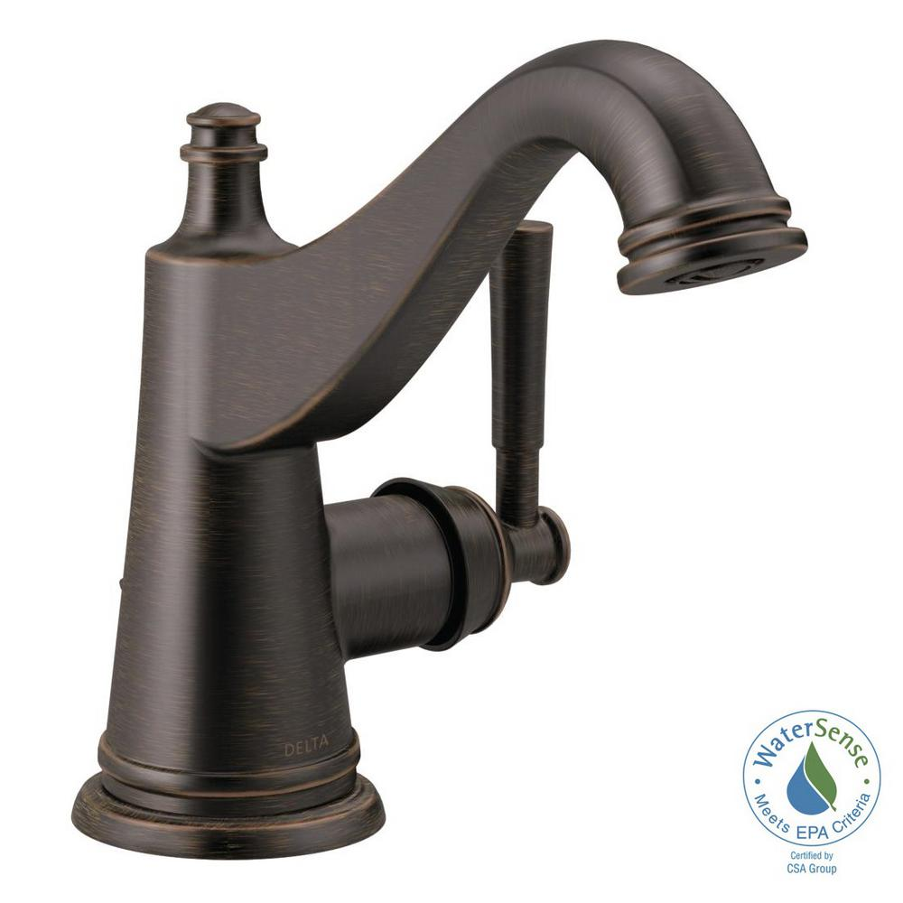 Delta Esque Single-Handle Bar Faucet with Pull-Down Sprayer and ...