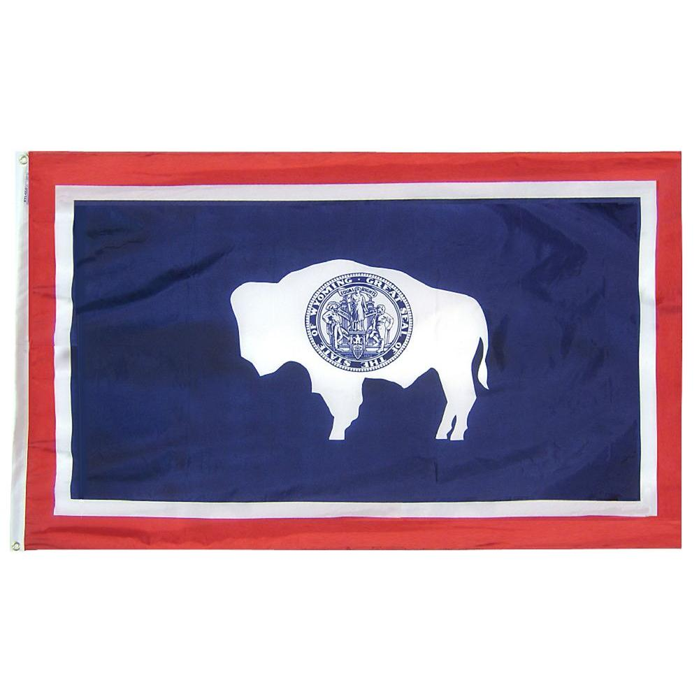Annin Flagmakers 3 ft. x 5 ft. Wyoming State Flag