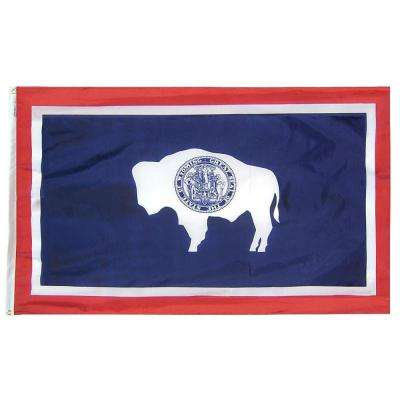 3 ft. x 5 ft. Wyoming State Flag