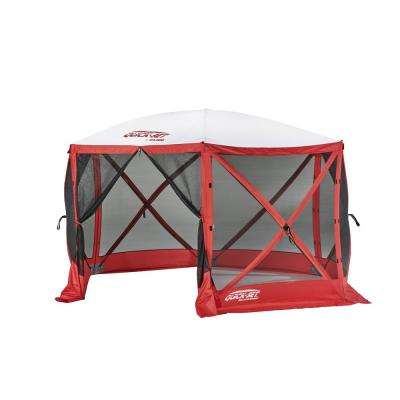 Quickset Escape 6-Side Red/White Sport Screen Shelter