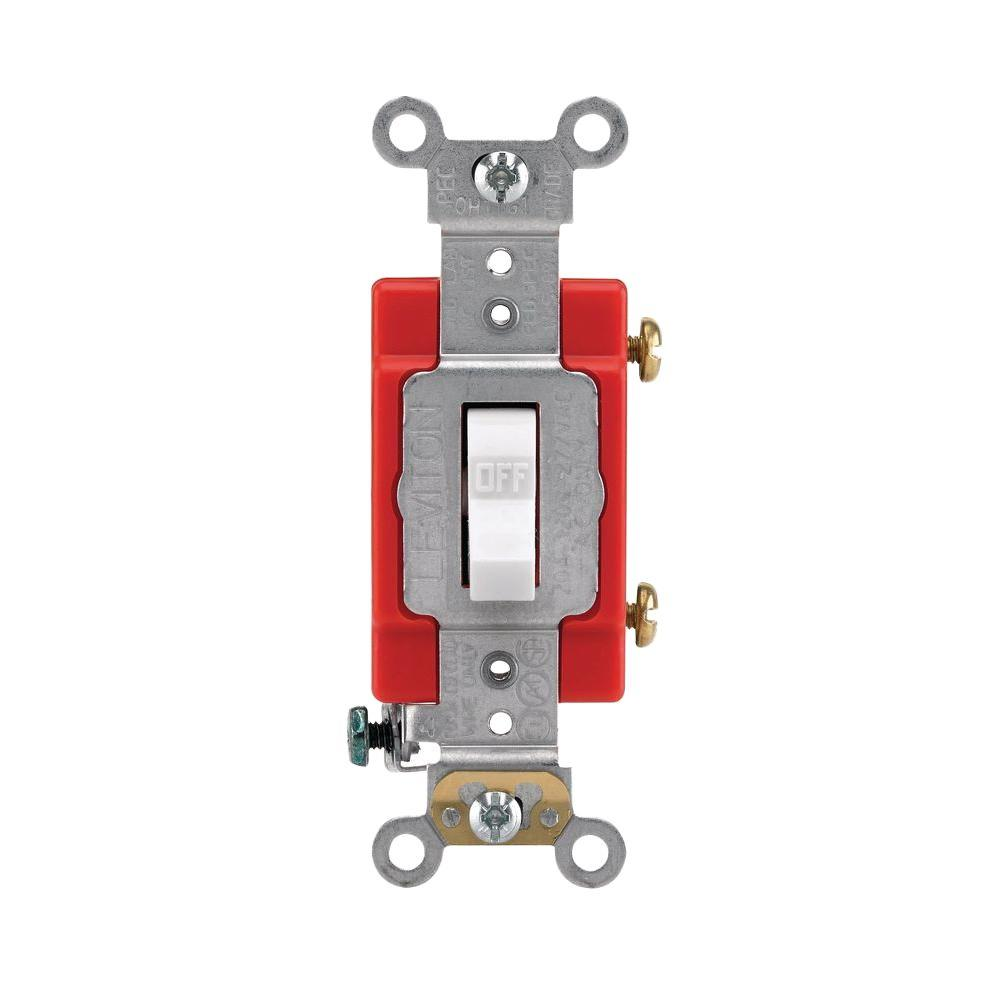 Leviton 15 20 Amp Industrial Toggle Switch White R52 01221 20w Turning Off A 20amp Circuit Breaker
