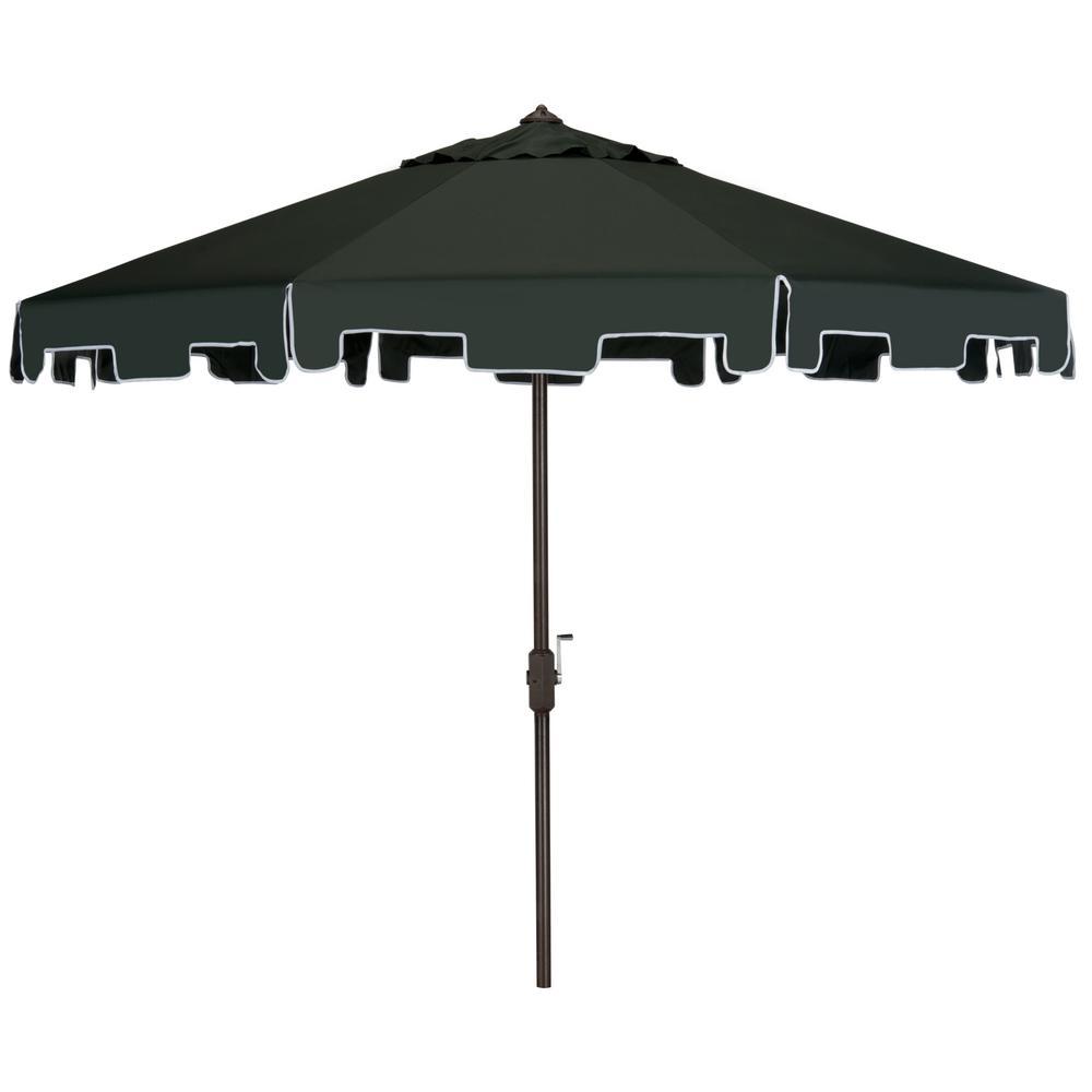 Zimmerman 9 ft. Aluminum Market Tilt Patio Umbrella in Dark Green